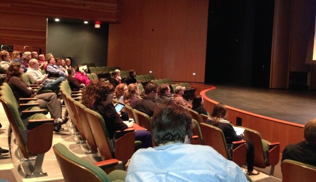 Wave 1 Kickoff meeting in LCC's Rose Center auditorium