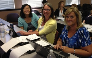 Catherine Kwong, ctcLink Student Functional Analyst, led the session. Here she is assisting SFCC Credential Evaluators Tamara Wittstruck and Lisa Baldwin.