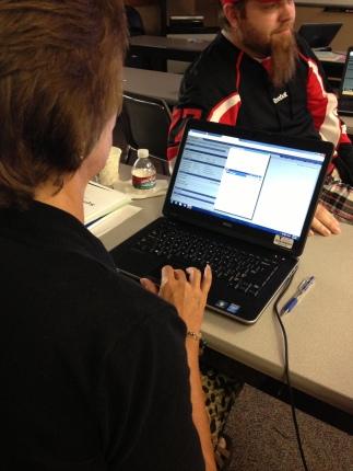 TCC Transcript Evaluator Colleen Spezia creates degree rules for her Academic Advisement report.
