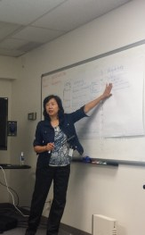 Catherine Kwong discusses the Advisor Center during the FirstLink Hands On sessions