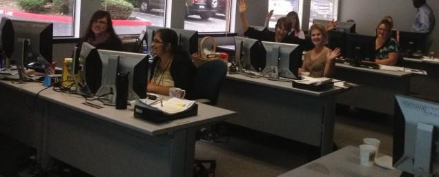 Having fun in the Bellevue Testing room!