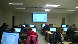 It was a December to remember, with ctcLink training all through the month, including this Campus Solutions training at Spokane Falls CC.